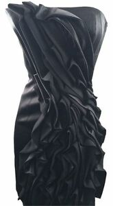 d11f73cff30e Image is loading Womens-KAREN-MILLEN-Strapless-Frill-Dress-Black-Size-