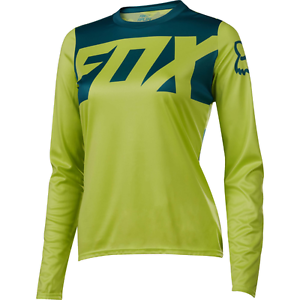 Fox Racing Womens Ripley Long Sleeve L S Jersey  Light Yellow  up to 60% off