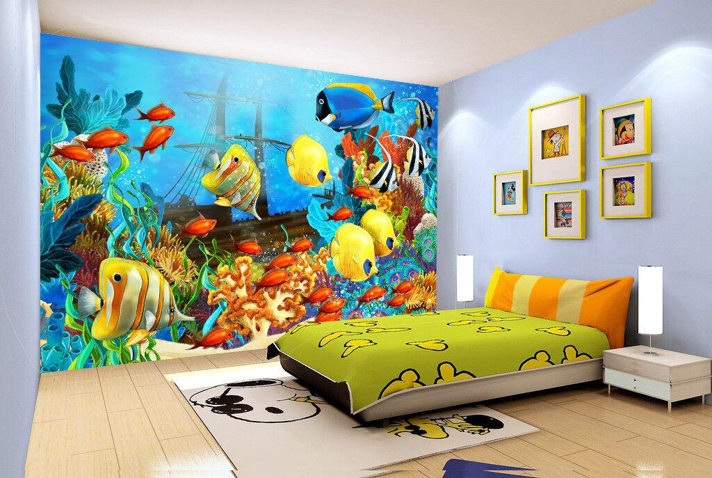 3D Ozeanfische 558 Tapete Tapeten Mauer Foto Familie Tapete Wandgemälde Summer
