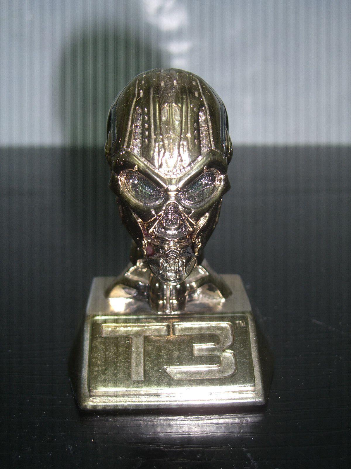 Terminator 3 3 3 T3 TX Head Endoskull Polystone Mini BUST 3  Collectible Statue 4da1a5