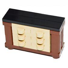 LEGO Furniture: Bedroom Dresser Set - Fancy 6 Drawer Design for Minifigure Home