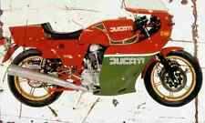 Ducati 900MHR 1980 Aged Vintage Photo Print A4 Retro poster
