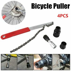 4PCS//Set Bicycle Bike Freewheel Chain Whip Cog Cassette Sprocket Remover Tools
