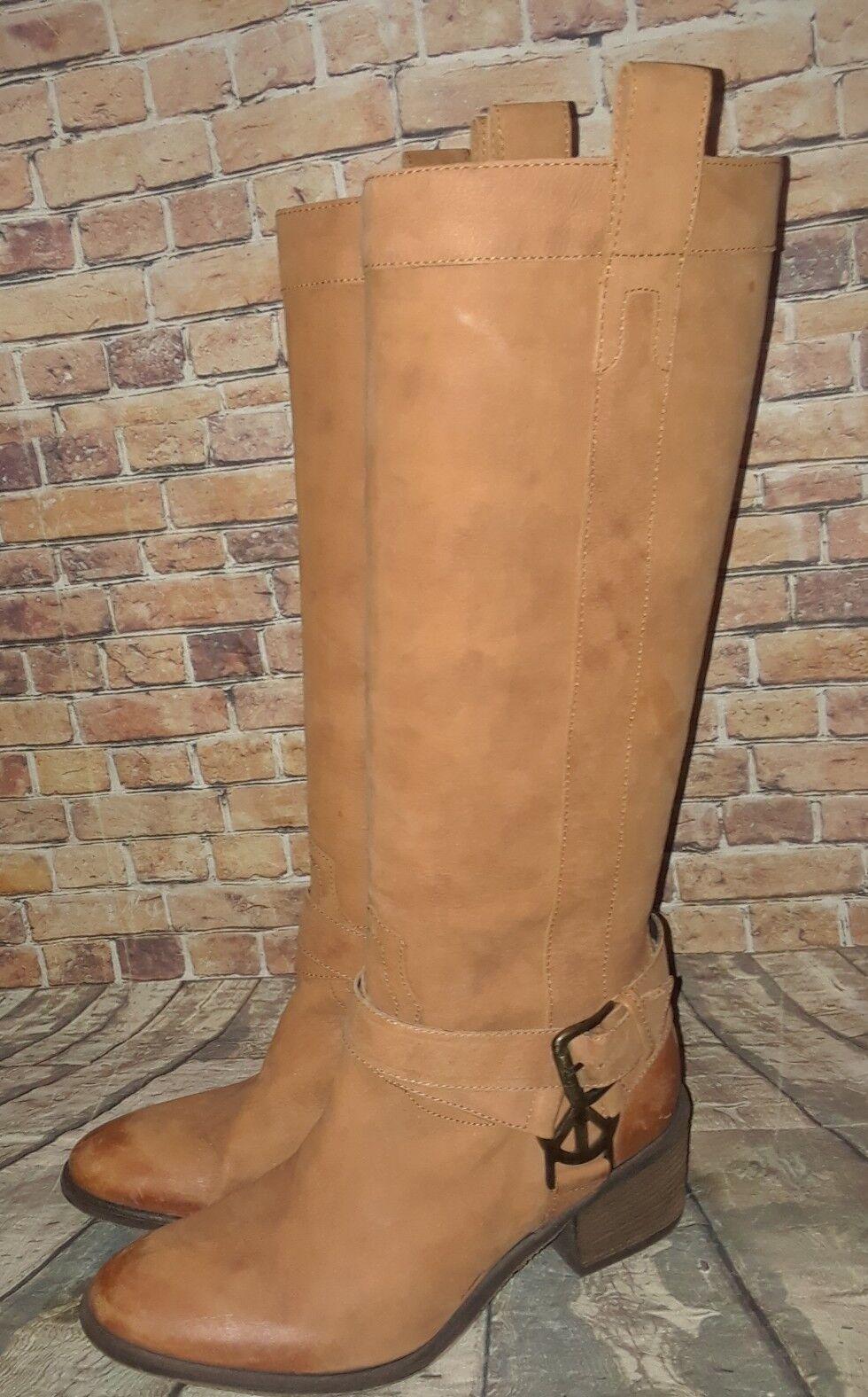 Donald J Pliner Cognac Braun Stiefel Leder Western Couture Pull-On Stiefel Braun 8.5M 'Devina' 768585