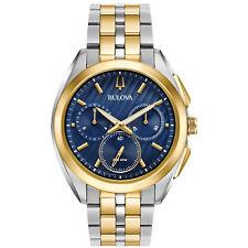 Bulova CURV Men's Quartz Chronograph Blue Dial 43mm Watch 98A159