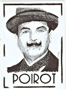 ACEO-Art-Sketch-Card-David-Suchet-as-Hercule-Poirot-TV-Series-ink-A