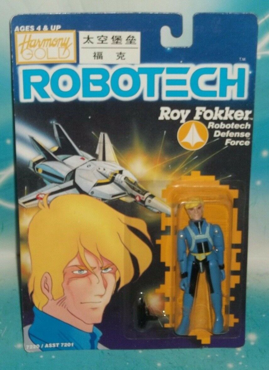 Robotech, piloto antiguo de las las las F - FDTL Roy Focker, gráfica 1985 caja de cerillas 2f0