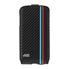 BMW M Collection Flip Cover für Samsung Galaxy S4 Carbon Schwarz Flap Case NEU