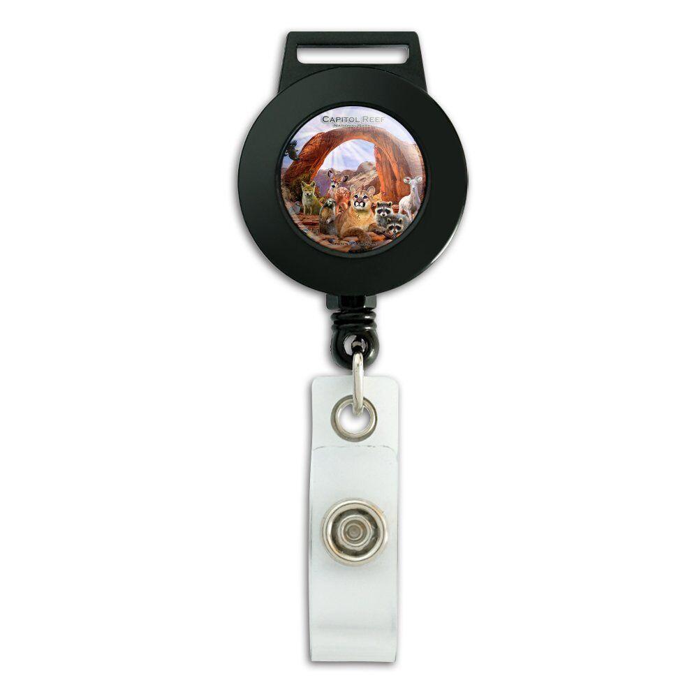 Capitol Reef National Park Utah Animals Badge ID Card Holder