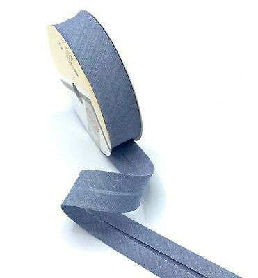 Bias Binding Glow Metallic Folded Bias  30mm Great Quality Trimming