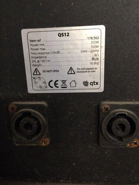 QTX – QS12, Plast højtaler