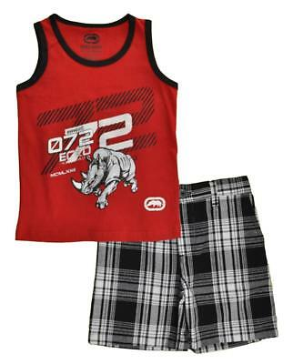 Ecko Unlts Toddler Boys Red Tank Top 2pc Short Set Size 2T 3T 4T $40