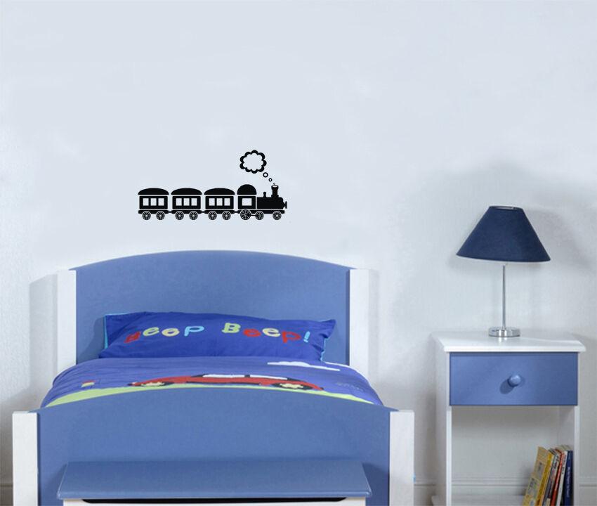 TRENO TRENO TRENO FUMO giocattolo cameretta bambini per bambini decalcomania camera da letto fb400d