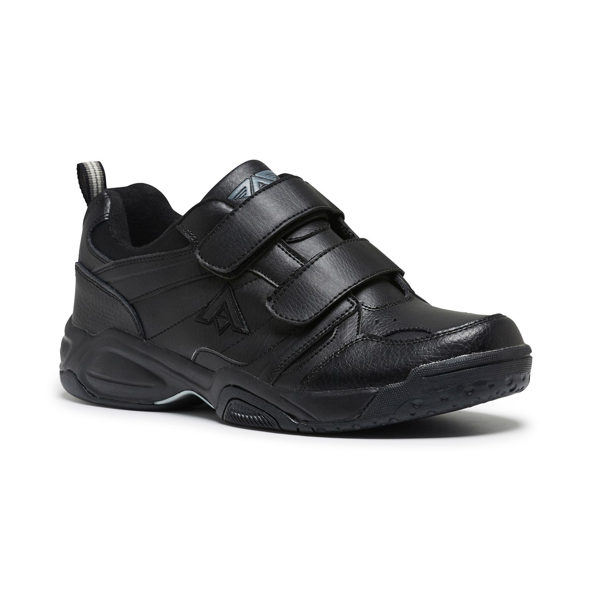 Mens Aerosport Tread Strap Over Black Work Everyday Runners Sneakers New shoes
