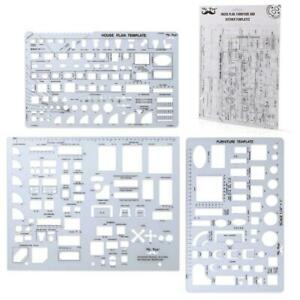Architectural Templates, House Plan, Interior Design, Furniture, Drafting Tools