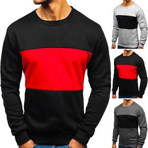 Herren Longsleeve Sweatshirt Pullover Pulli Rundhals Aufdruck Men BOLF 1A1 Motiv