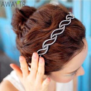 Women-039-s-Rhinestone-Crystal-Headband-Leaf-Hairband-Hair-Band-Hair-Accessories