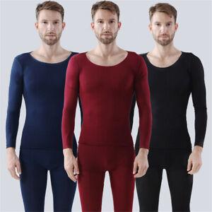 Men-039-s-Winter-Warm-Velvet-Inner-Wear-Thermal-Underwear-Long-Johns-Pajama-Set-CA