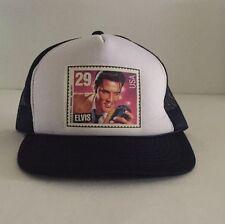 Vintage Rare Headwear Elvis Presley Stamps 29 Trucker Mesh Hat Rock Roll Singer