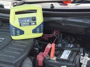 Details About Portable Automotive Battery Charging 12v 8amp Car Van 8 Amp Travel Power Charger