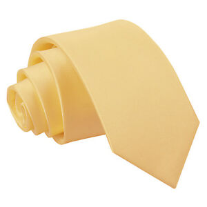 DQT-Satin-Plain-solide-jaune-pale-kids-enfant-communion-Page-Garcons-Cravate