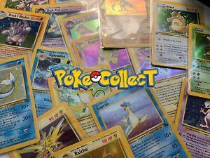 Pokemon-Card-Lot-10-Holo-Pack-mit-1-Vintage-WotC-HOLO-1st-Edition-Charizard