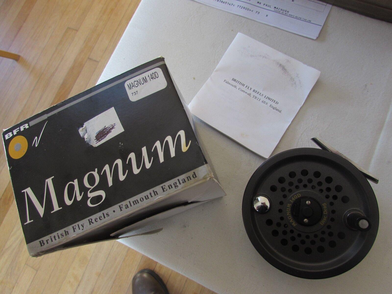 V good vintage leeda magnum 140D salmon fly fishing reel 4  size boxed