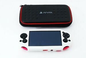 034-Exc-034-Sony-PS-Vita-Pink-Black-PCH-2000-w-Silicone-cover-from-japan