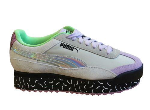 Puma x Roma AMOR Dimension Textile Leather Lace Up Womens Trainers 371074 01