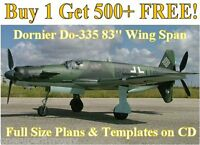 Dornier Do335 83 Giant Scale Rc Airplane Plans&templates On Cd In Pdf Format