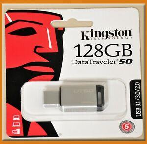 3.0 Flash Pen Drive DT50//128GB Kingston 128GB USB DataTraveler 50 128G USB 3.1