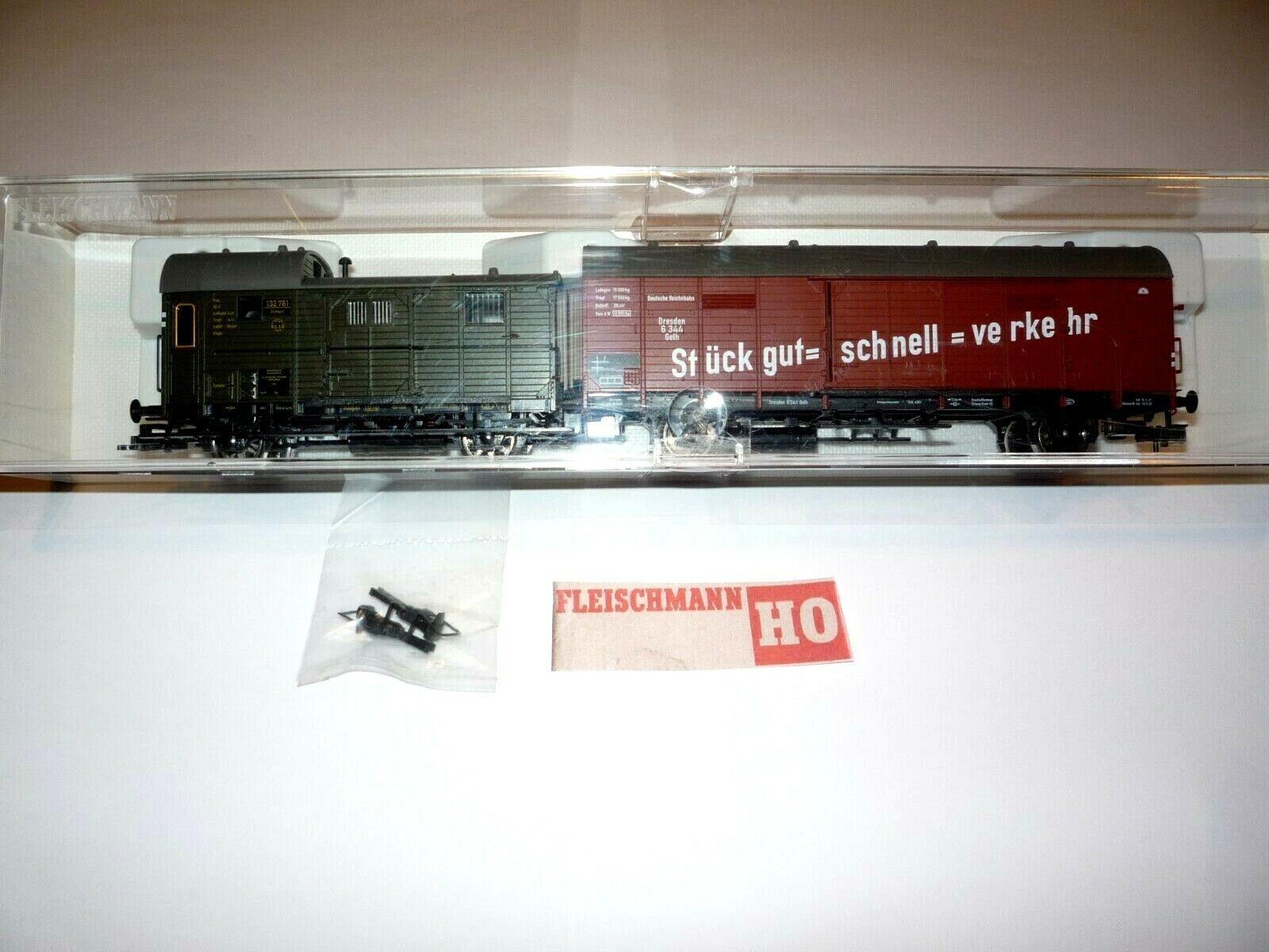 H2 FLESCHMANN 5305 WAGENSET LET G-UNITA' ATTREZ.RAPIDASieT.TRASPORTI DRG.