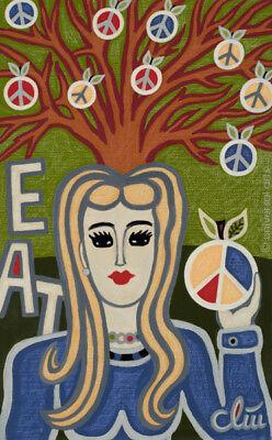JACQUELINE DITT - Peace Tree  2016 Gemälde Bild art Kunst Bilder Peace Zeichen