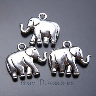 10 x Tibetan Silver BEAR WILD ANIMAL 3D 16mm Charms Pendants Beads