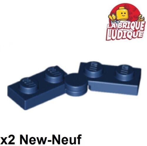 Lego 2x Charnière hinge plate plaque swivel 1x4 bleu foncé//dark blue 2429c01 NEW