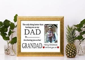 Personnalisé Fête Des Pères Cadeau Pour Papa Papa Grand-père things i Love Imprimé Cadeau