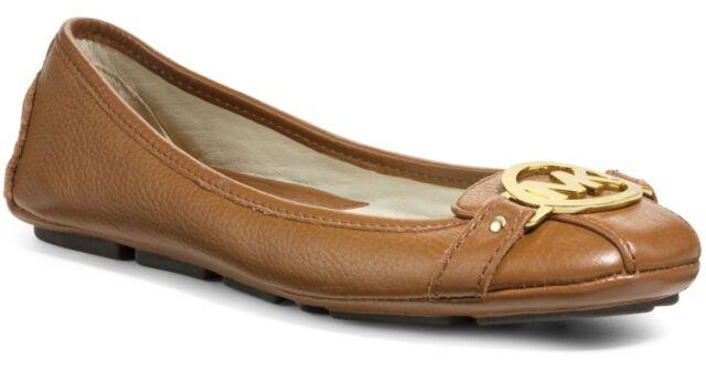 aa33f8504266 Michael Kors Fulton MOC Luggage Leather Logo Loafers Flats 9 Shoes ...