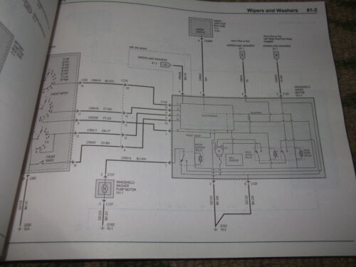 2003 Ford Escape Electrical Wiring Diagram Service Shop