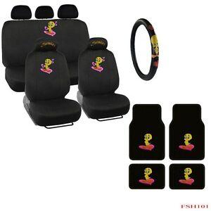 New Tweety Bird Front Rear Car Floor Mats Seat Covers