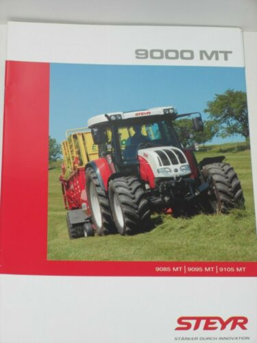 STEYR 18 STEYR 9000MT Traktoren Prospekt von 01//2009