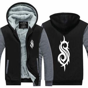Slipknot-Hoodie-Sweatshirt-Zipper-Thicken-Sweater-Winter-Warm-Coat-Jacket-Top