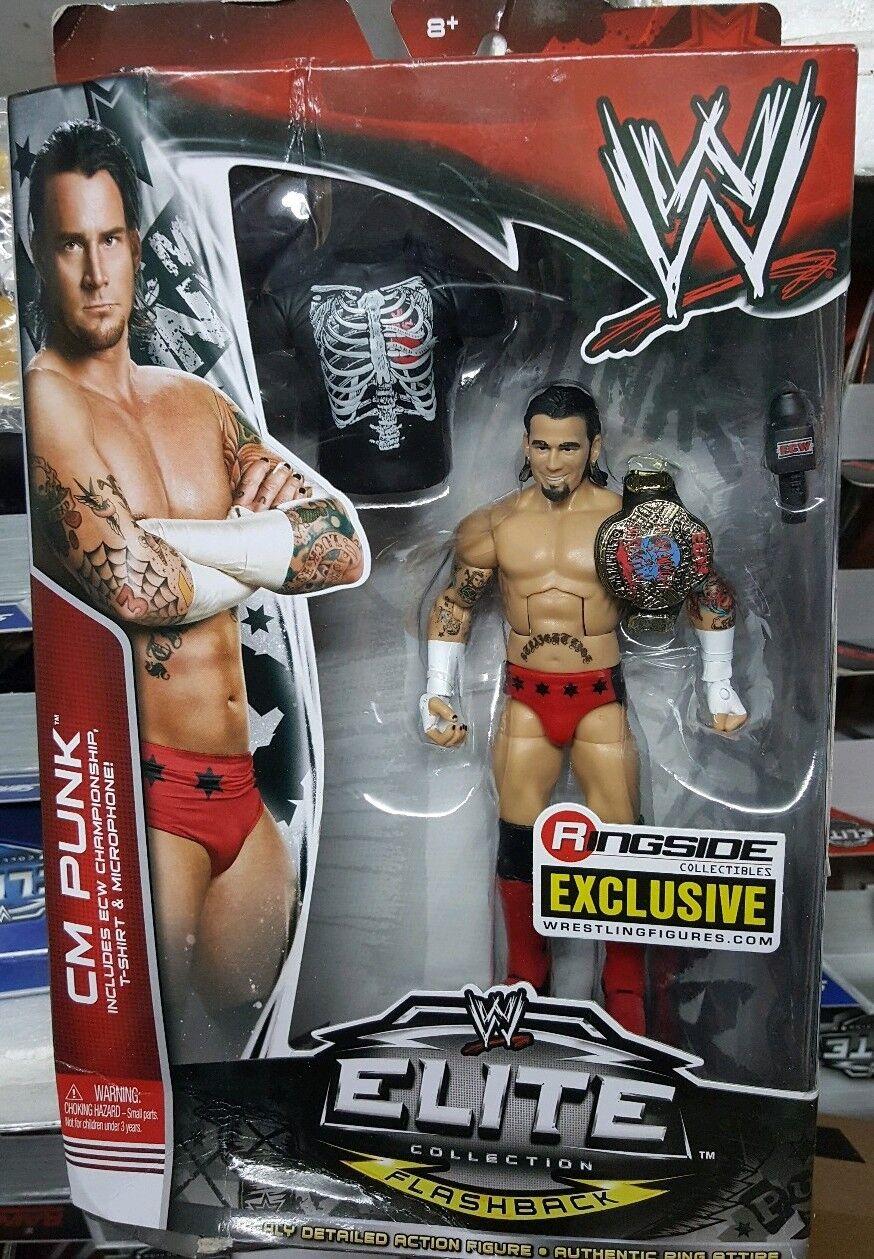 WWE MATTEL ELITE ELITE ELITE SERIE Ringside Cm Punk Hardcore lucha libre figura exclusiva b4fd24