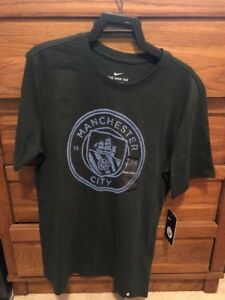 f015f788bbe0 Nike Men s Manchester City Green Crest T-Shirt Sz M 857357 332