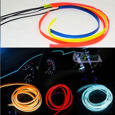 2M/5M LED Flash Flexible Neon Light Glow EL Strip Tube Wire Rope Car Party Decor