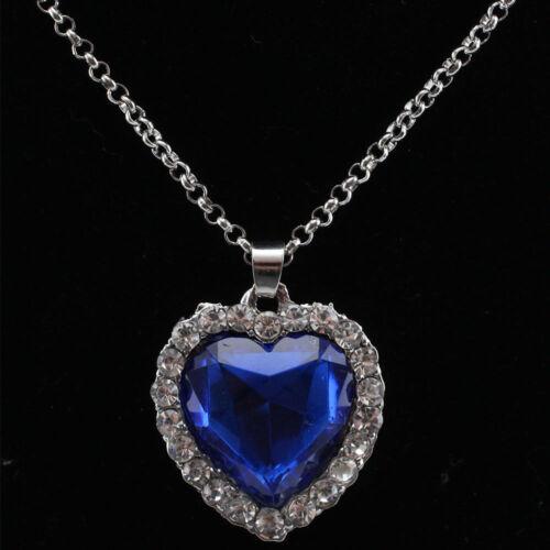 Titanic El Corazón Del Océano Azul Diamond Collar colgante Chicas Joyería Regalo