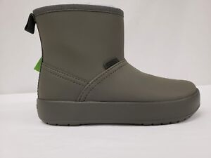 d1ea1aeb3d6ef Details about New Crocs Women's Colorlite Winter Ankle Boot, Olive Green, W5