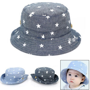 67c971898f1d0 1 x Soft cotton summer baby sun hat infant boys girls denim bucket ...