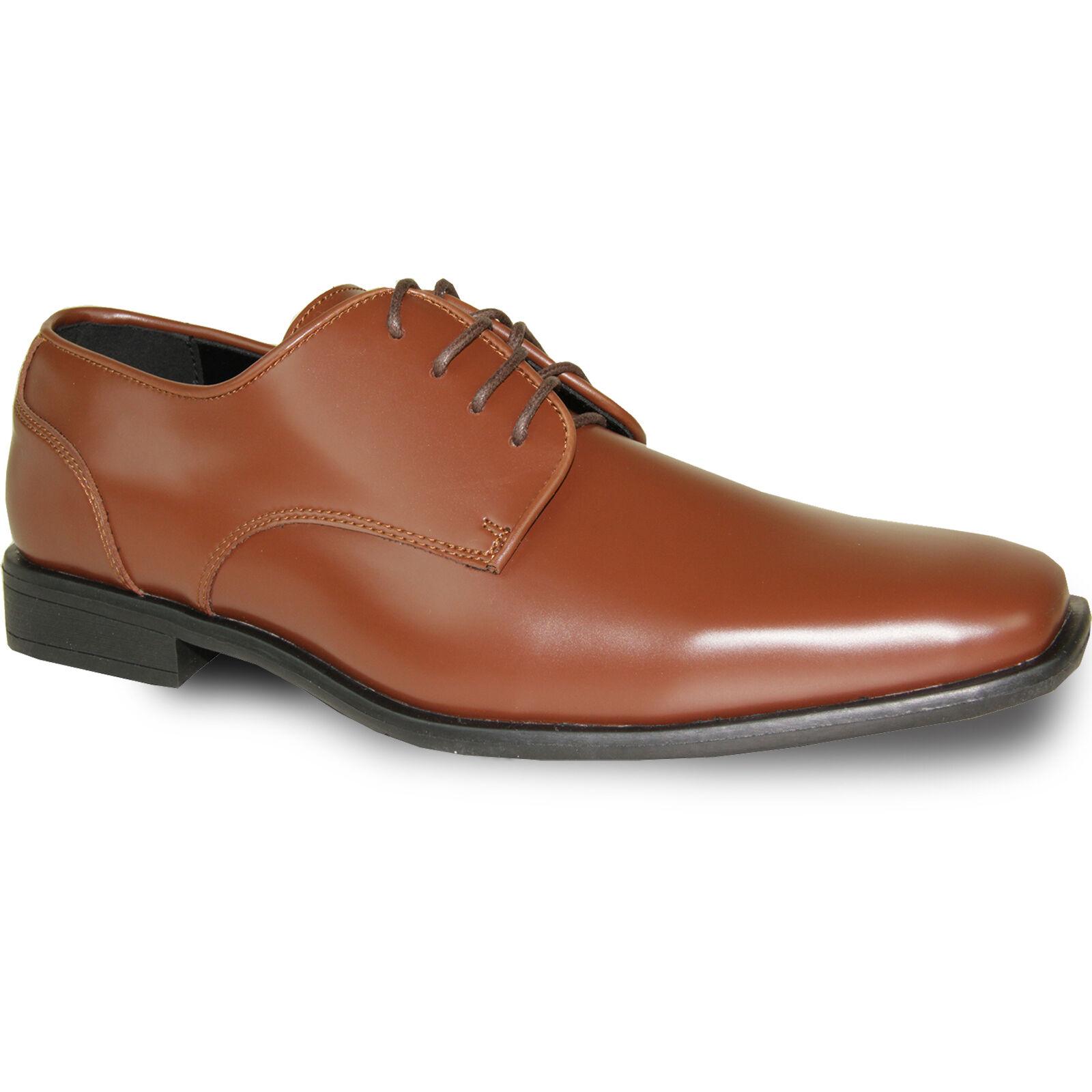 VANGELO New Uomo Dress Shoes TUX-2 Tuxedo For Formal Up Wedding Cognac Size Up Formal to 18 debda8