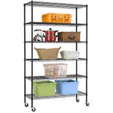 "New 6 Tier Wire Shelving Unit NSF Metal Shelf Rack 2100 LBS Capacity 18""x48""x82"""