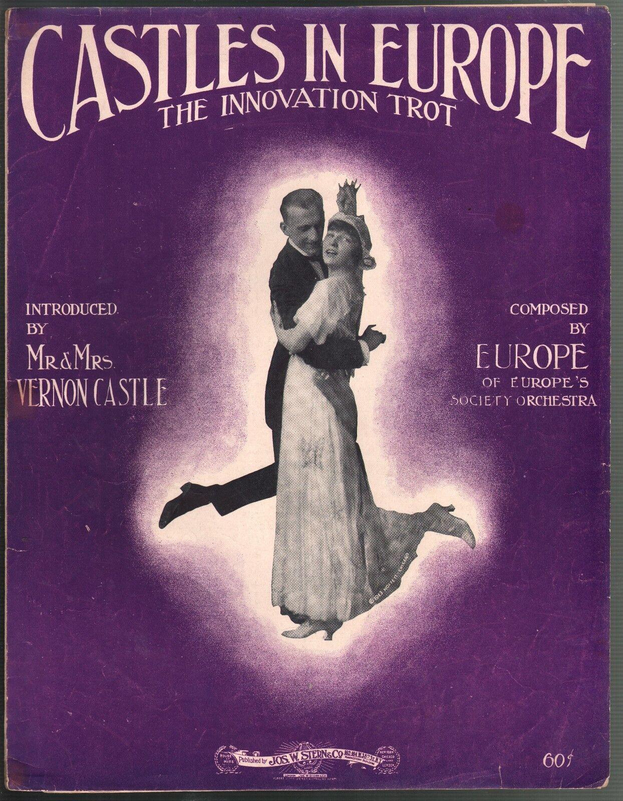 Castles In Europe 1914 Vernon & Irene Irene Irene Castle James Reese Europe Sheet Music 62ab43